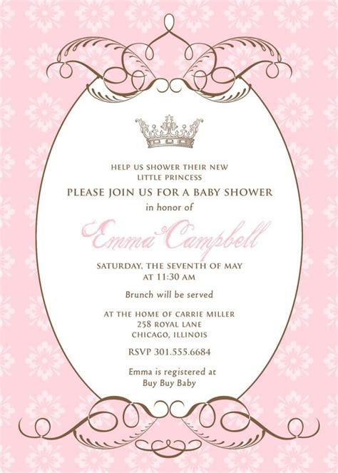 Cinderella Baby Shower Invitations by Gold Princess Baby Shower Invitation Royal Baby Shower