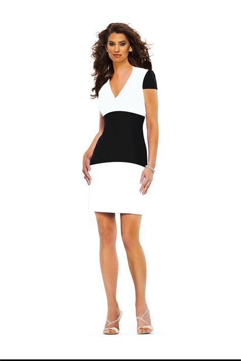 Hils Elegan haute couture black and white summer dress