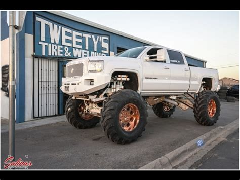 monster denali gets fifty four inch tires on its 24 inch