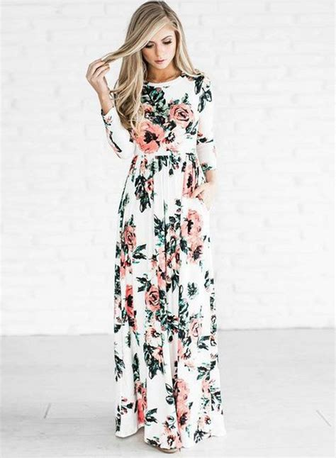 Maxy Is floral sleeve maxi dress novashe