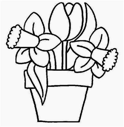 Imagenes Para Pintar Macetas | dibujos de flores en macetas para colorear