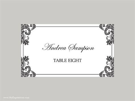 Vorlage Word Tischkarten Hochzeit Tischkarten Vorlage Gefaltet Schwarze Damast
