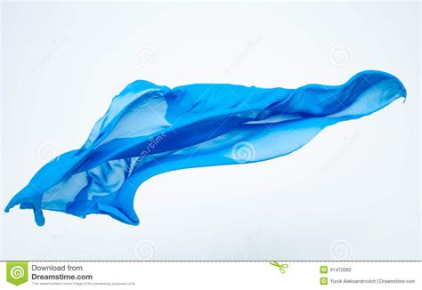Flying On Fabric abstract of blue fabric flying stock photo image