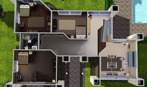sims 3 floor plan 27 sims 3 floorplans ideas building plans 85677