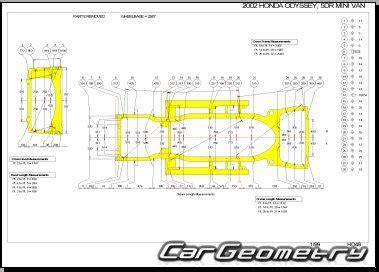 car repair manual download 2004 honda odyssey head up display кузовные размеры honda odyssey rl1 1999 2004 usa body repair manual