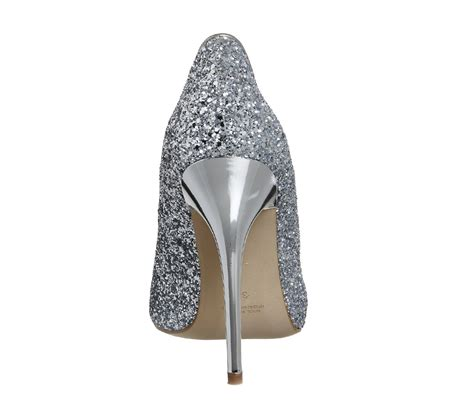High Heels Gliter Silver Lj 05 Murah office on to point court heels silver glitter high heels