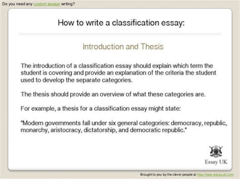 classification pattern writing i need to write an essay that shows classification