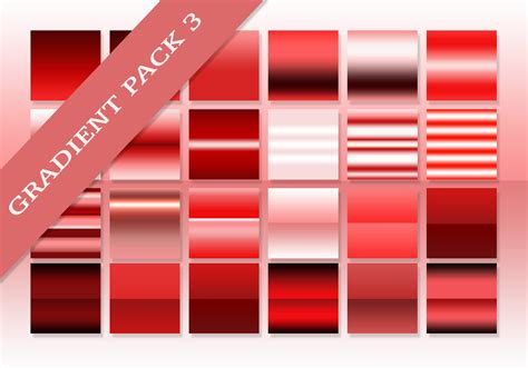 red ultimate gradients pack