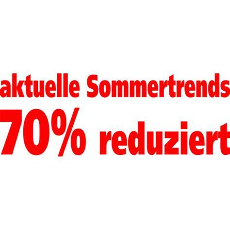 Folienbeschriftung F R Schaufenster by Folienbeschriftung Quot Aktuelle Sommertrends 70 Reduziert Quot