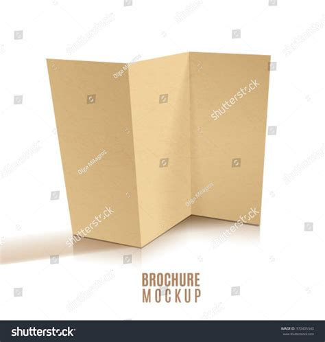 Tri Fold Brochure Paper Stock - blank tri fold brochure design isolated paper craft