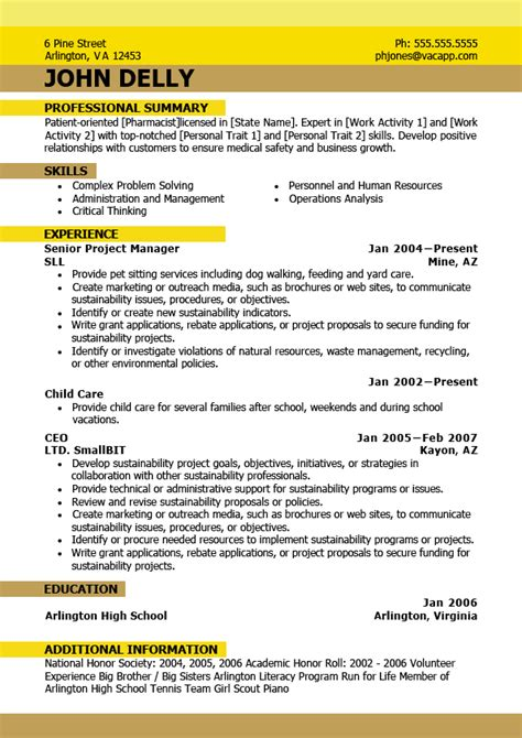 new professional resume format 2015 new resume format 2016 best resume format