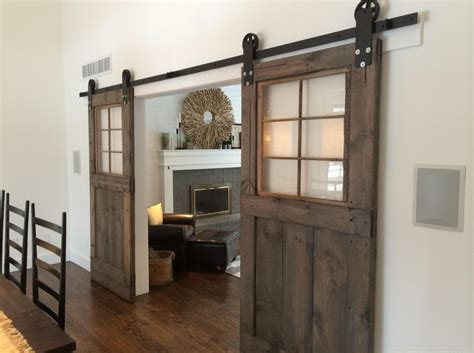 Sliding Barn Doors With Windows Vintage Custom Sliding Barn Door With Windows Price Is For
