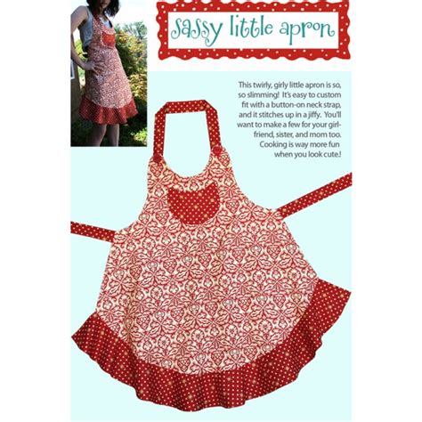 apron pattern simple sassy little apron pattern cabbage rose sewing