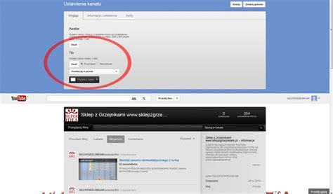 jak udelat layout na blog jak dodać własne tło kanału na youtube blog o reklamie