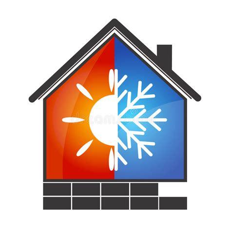 clip on heat l air conditioning symbol stock vector illustration of snow