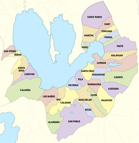 san jose binan laguna map laguna province the free encyclopedia