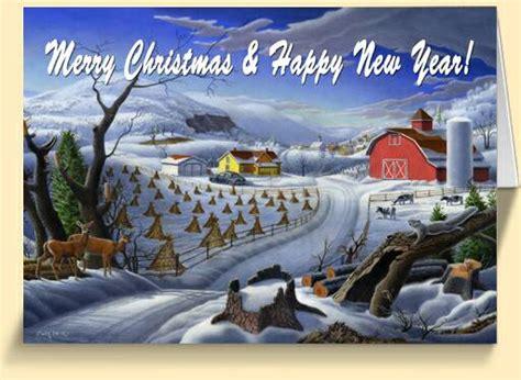 appalachian rural country farm christmas greeting cards  sale