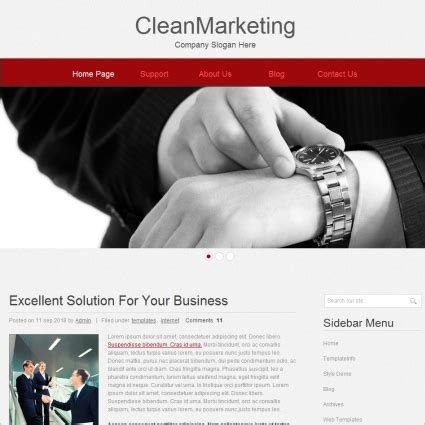 free download website templates for advertising clean marketing template free website templates in css
