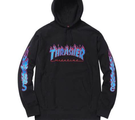 Hoodie Jumper Jaket Skate Thrasher Black blouse supr 234 me thrasher black hoodie hoodie sweater
