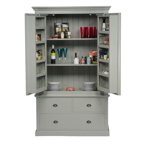 Kitchen Designs Country Style by Mottisfont Painted Larder Unit Oak Furniture Solutions
