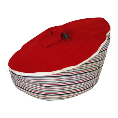 nautical red top baby bean bag