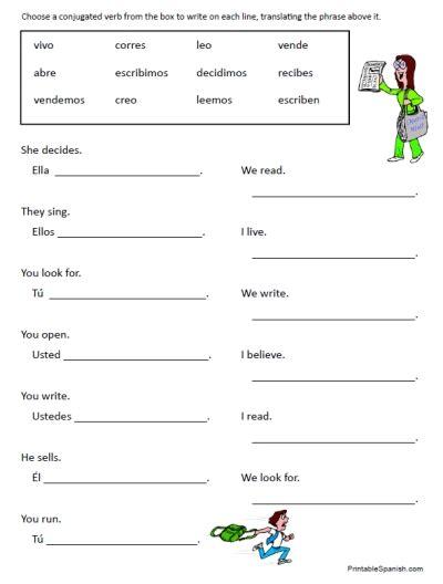 Verb Worksheets by Image Gallery Verb Printables