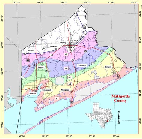 matagorda texas map state level maps