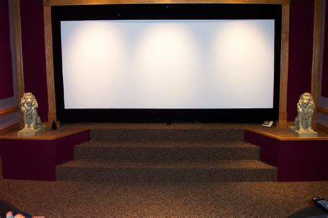 motorized home theater curtains diy curved screen w motorized masking avs forum home