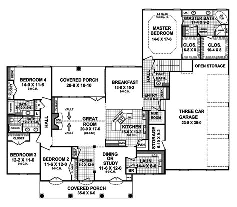 Doubletree Park Ranch Home Plan 077d 0104 House Plans