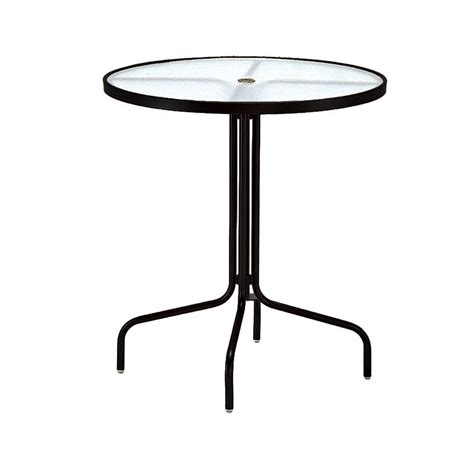 tradewinds outdoor furniture tradewinds 36 in black acrylic top commercial patio bar