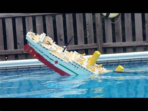 lego boat sinking videos 5 foot lego britannic model sinking video 2