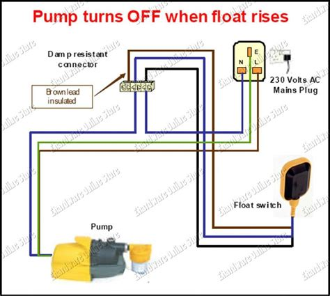 float level switch wiring diagram sump installation