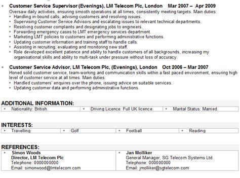 Career Change CV Sample