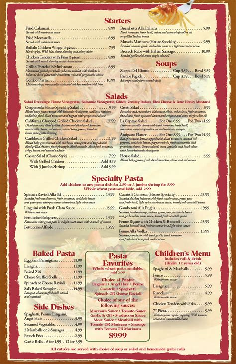 menu for restaurant template restaurant menu templates graphics and templates