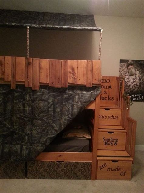Camo Bunk Beds Duck Blind Bunk Bed And On Pinterest