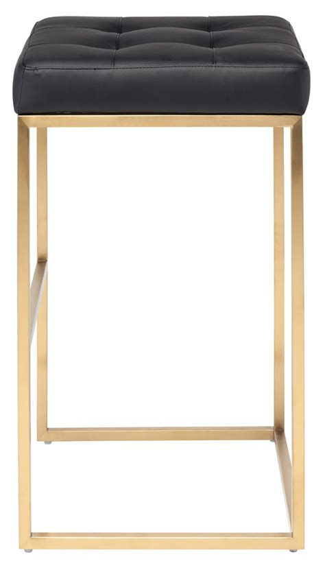 Brushed Gold Bar Stools by Nuevo Gold Chi Bar Stool Advancedinteriordesigns