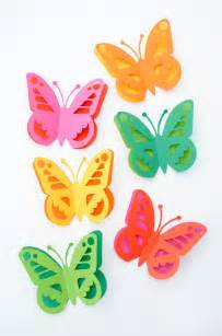Butterfly Paper Cut Out Template by Papercut Butterfly Minieco