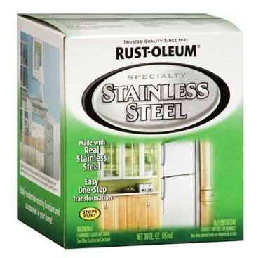 rust oleum 247963 specialty quart based appliance stainless steel kitchen
