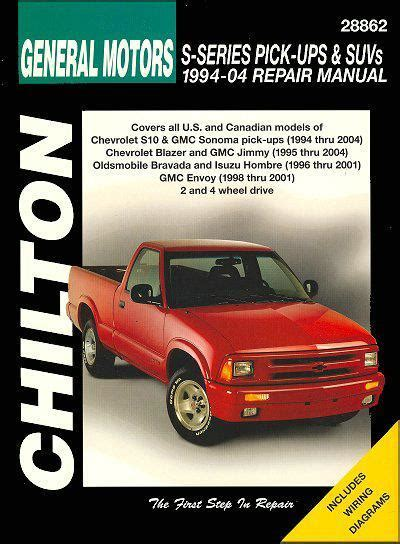 motor repair manual 1996 chevrolet g series 2500 transmission control general motors s series pick ups and suvs 1994 2004 1563926008 9781563926006 chilton usa