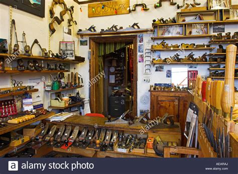 interior traditional woodworking tool shop variety