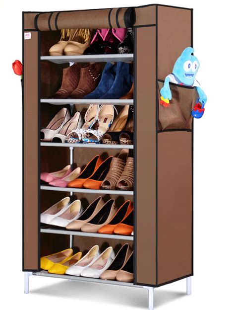 Lemari Sepatu 7 Susun jual 7th dusk cover rak sepatu kain lemari packing 7