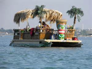 Floating Tiki Bar One Way To Decorate Your Deck Decks On
