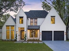 Modern Tudor Homes by Modern Tudor White With Black Windows Partial Metal