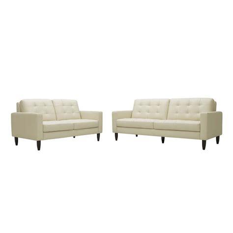 modern cream leather sofa wholesale interiors caledonia modern cream leather sofa
