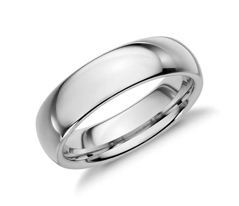 comfort fit tungsten wedding bands comfort fit wedding ring in white tungsten carbide 6mm