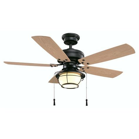 Hton Bay North Shoreline 46 In Indoor Outdoor Natural Outdoor Ceiling Fans With Lights