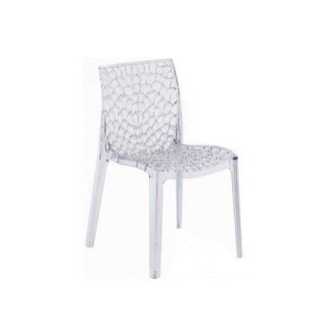 chaise de cuisine transparente declikdeco chaise transparente gruyer transparent vendu
