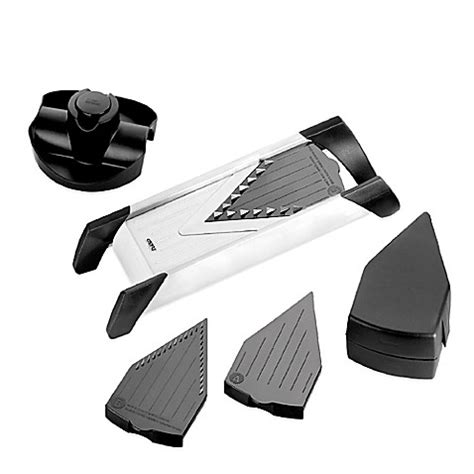 bed bath and beyond mandoline gefu v blade 4 piece stainless steel mandoline slicer