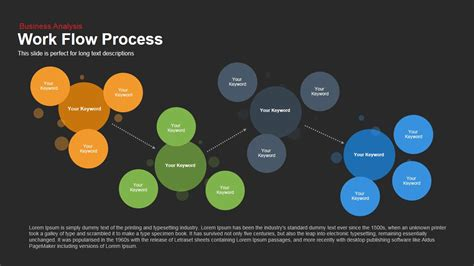work flow chart template powerpoint work flow process powerpoint and keynote template