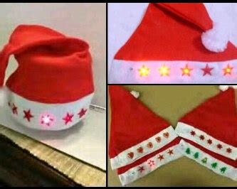 Topi Natal Santa topi santa natal lu menyala led 162